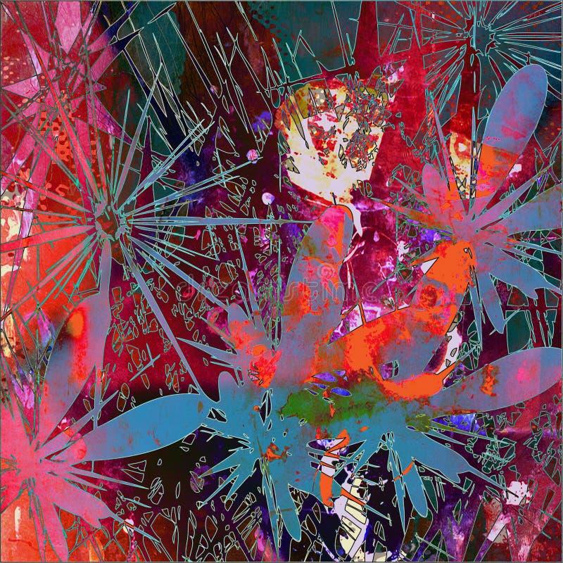 Kunst abstrakter grunge Grafikhintergrund vektor abbildung