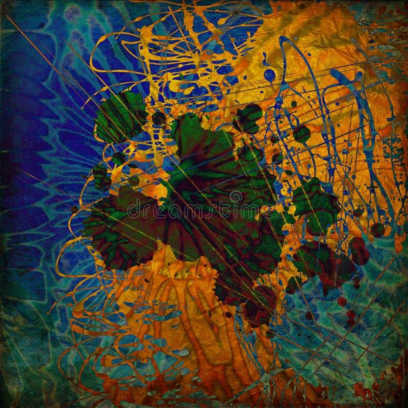 Kunst abstrakter grunge Hintergrund stock abbildung