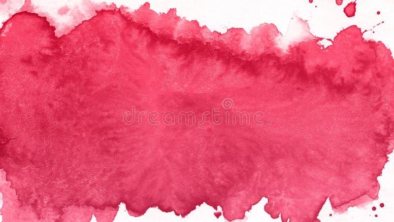 Kunst Aquarell-Rot-Hintergrund Schöner Planet lizenzfreies stockfoto