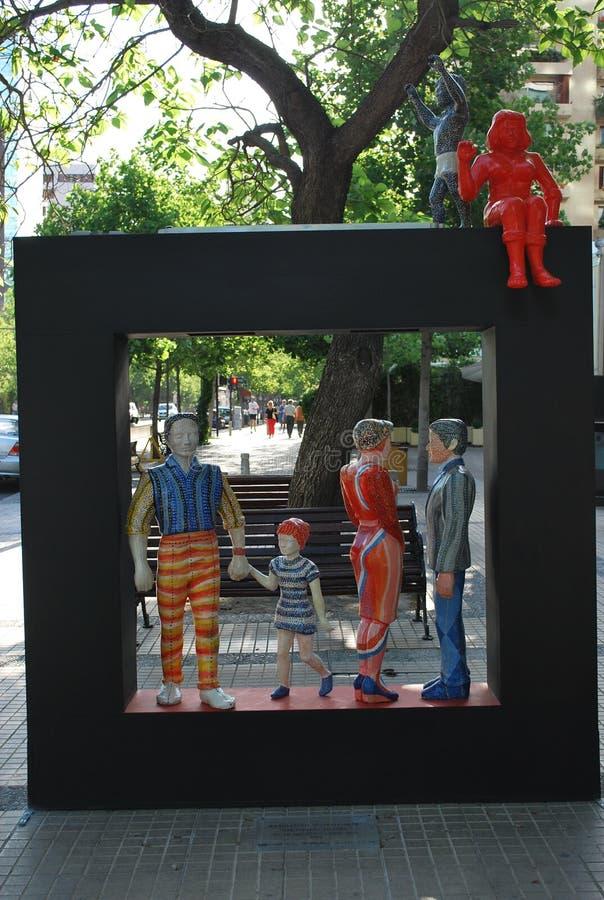 Kunst auf der Straße stockfotos