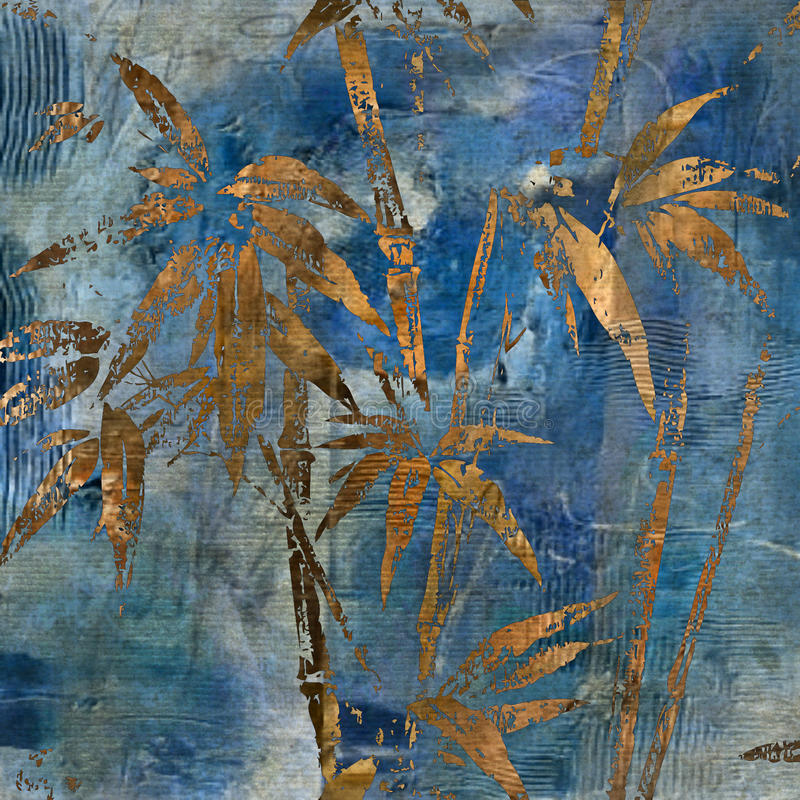 Kunst Blumengrunge Hintergrundmuster stock abbildung