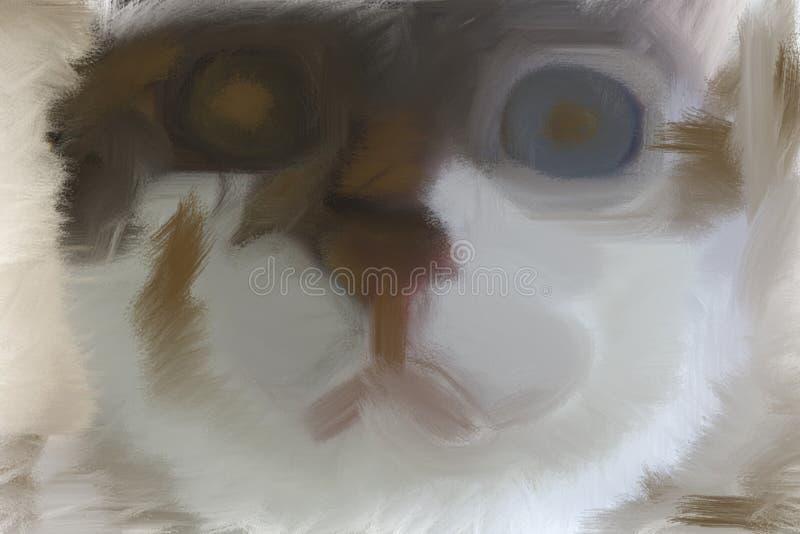 Kunst der Katze lizenzfreies stockfoto