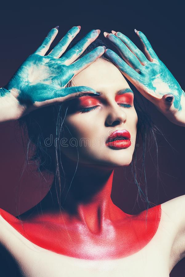 Kunst des Farbtonkörpers lizenzfreies stockbild
