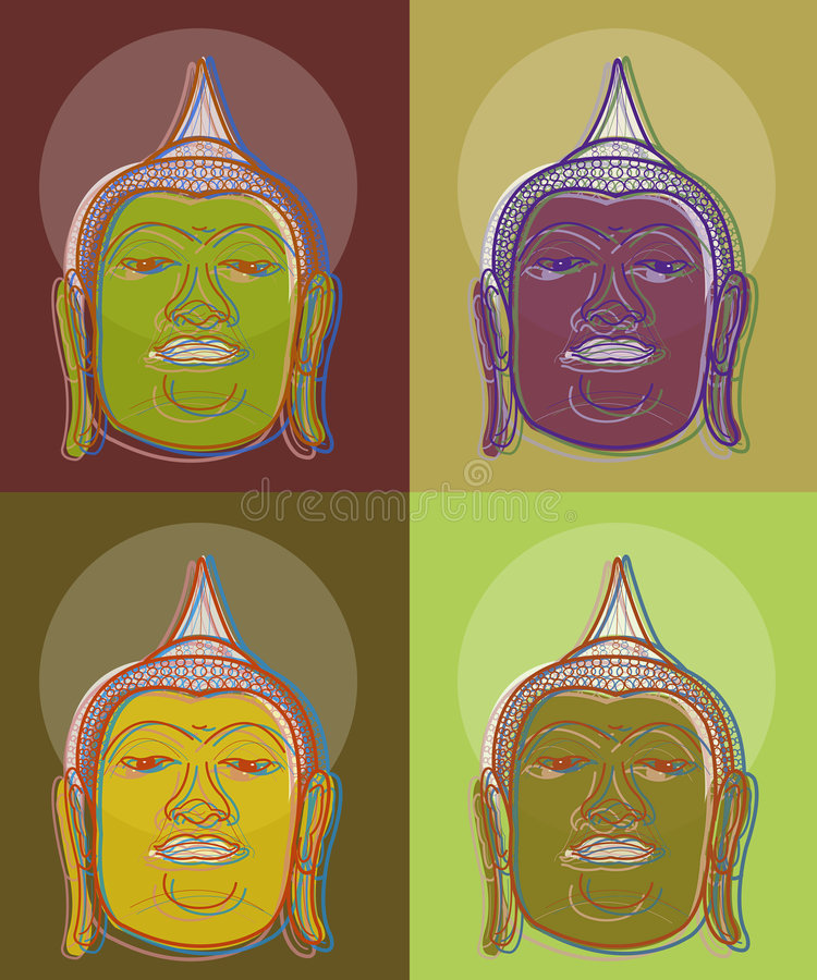 Kunst des Knalls 4 Buddha stock abbildung