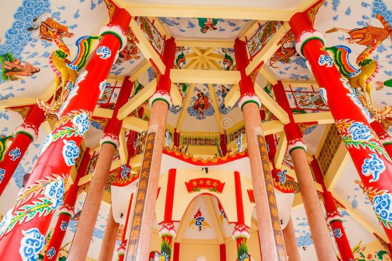 Kunst in einem chinesischen Tempel stockbild