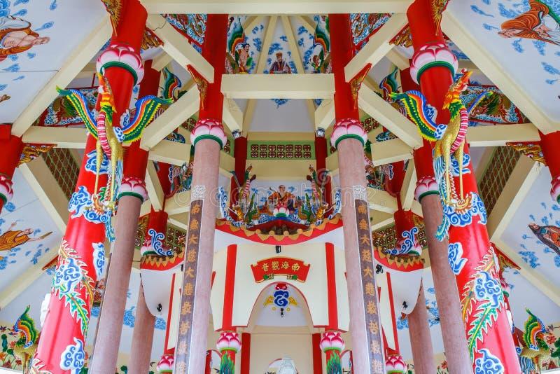 Kunst in einem chinesischen Tempel stockfotos