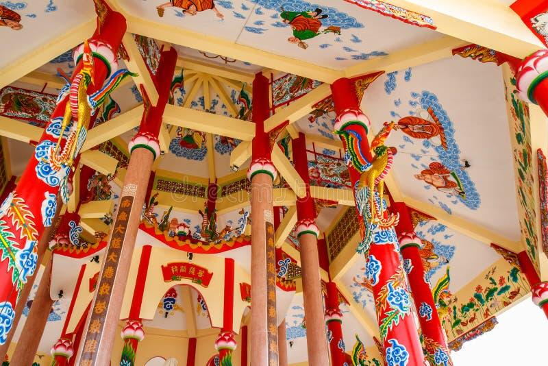 Kunst in einem chinesischen Tempel stockbilder