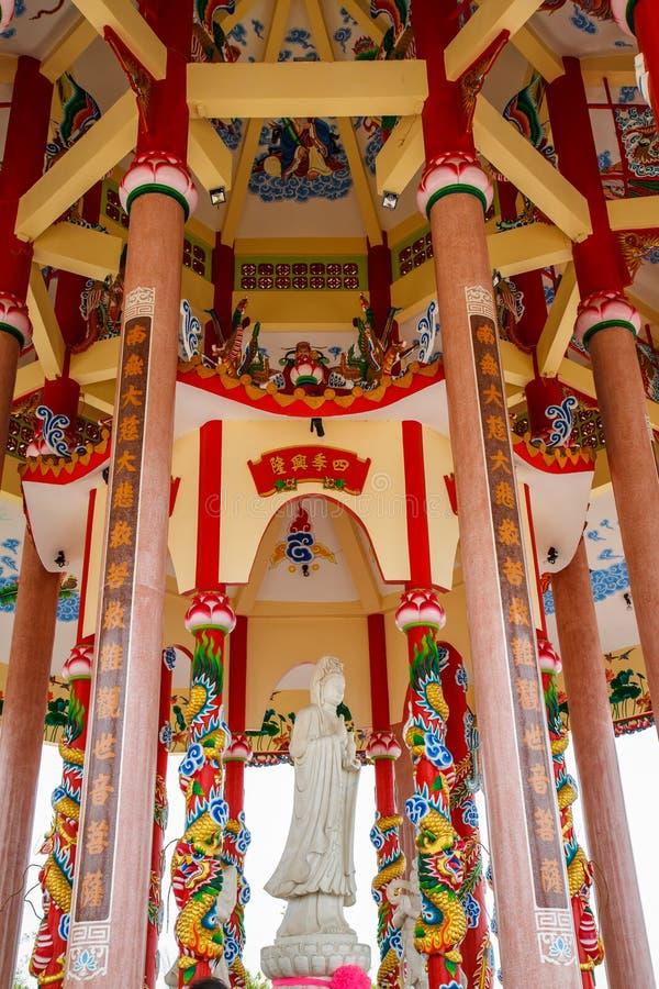 Kunst in einem chinesischen Tempel lizenzfreie stockfotos