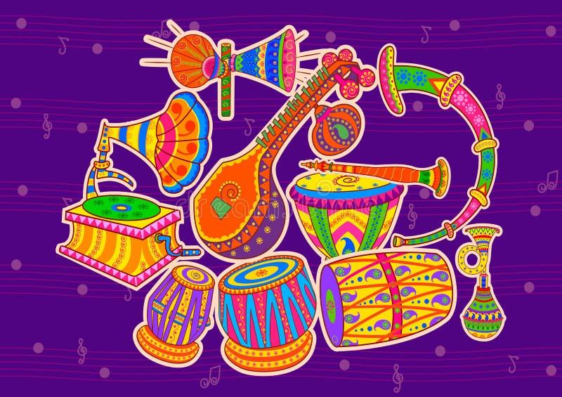 Kunst en muziek van India stock foto
