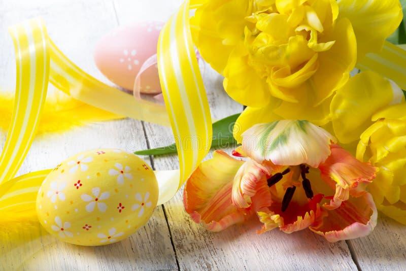 Kunst fröhliche Ostern stockbild