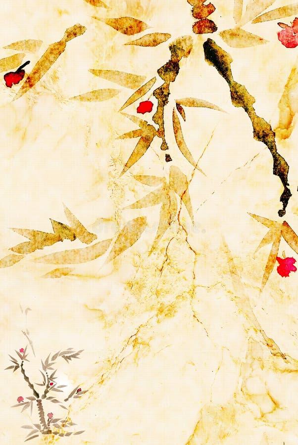 Kunst geschilderde achtergrond royalty-vrije illustratie