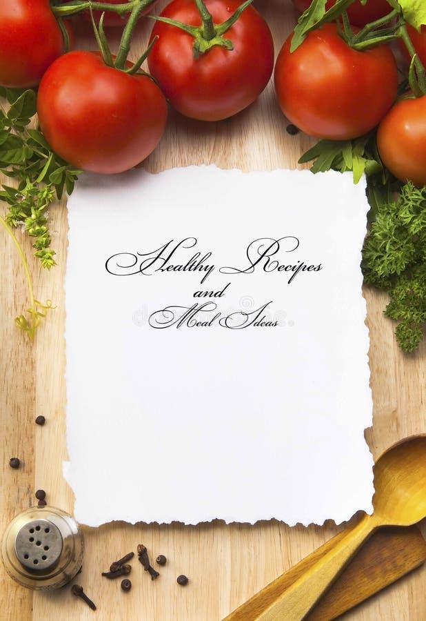 Kunst-gesunde Rezepte und Mahlzeit-Ideen lizenzfreie stockbilder