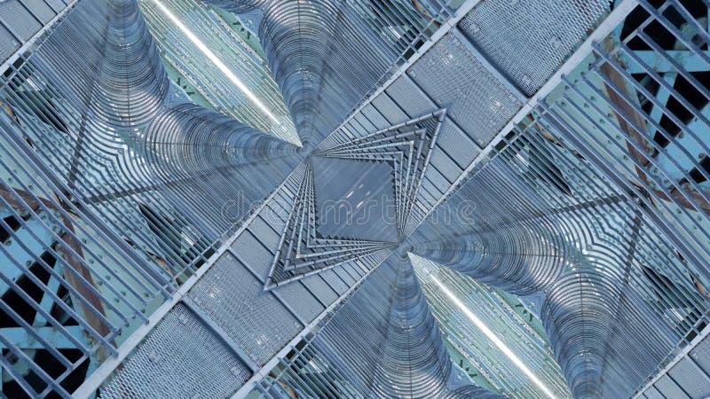 Kunst grafisch ontwerp van stedelijke structuur royalty-vrije illustratie