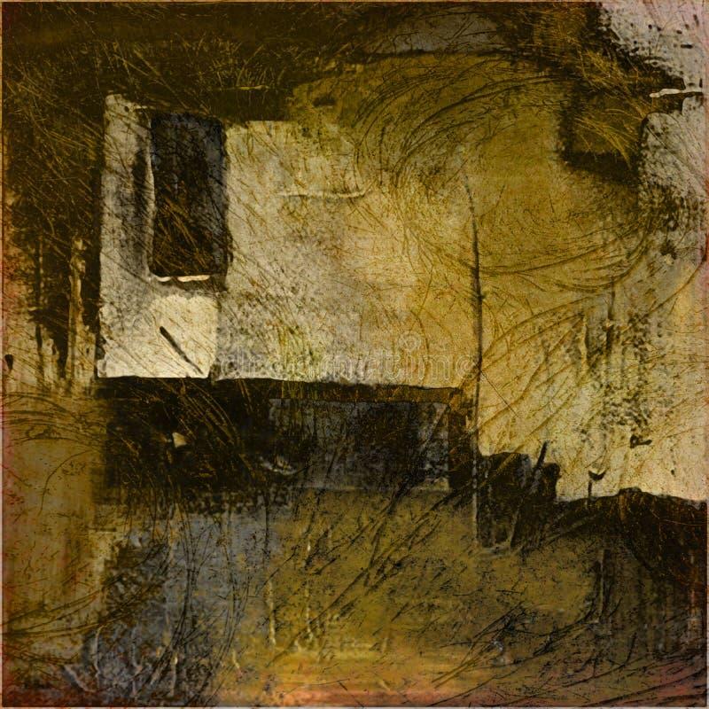 Kunst grunge Auszugs-Hintergrundkarte lizenzfreie abbildung