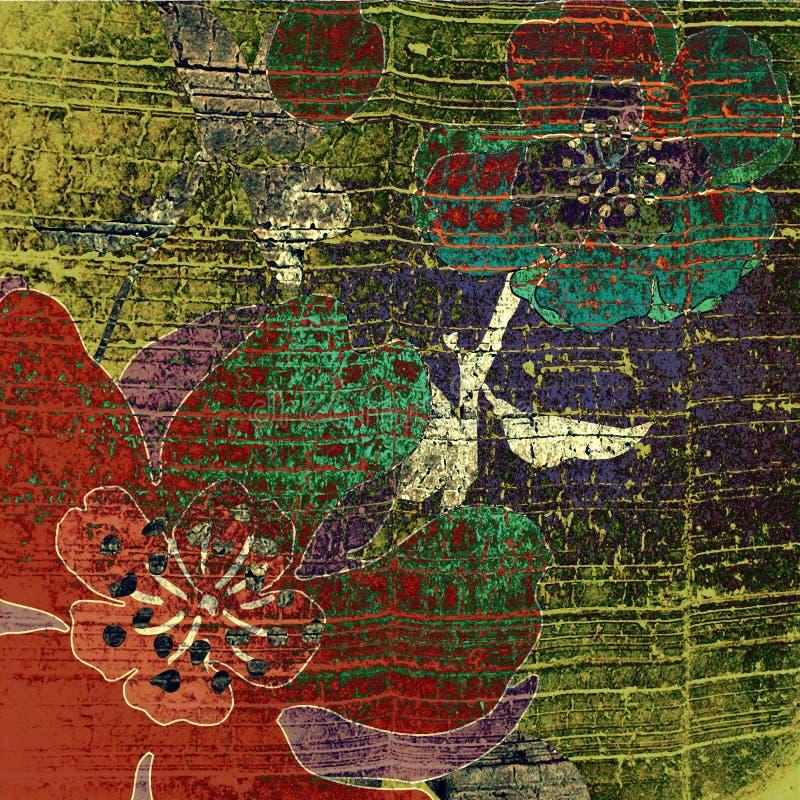 Kunst grunge Auszugshintergrund stock abbildung