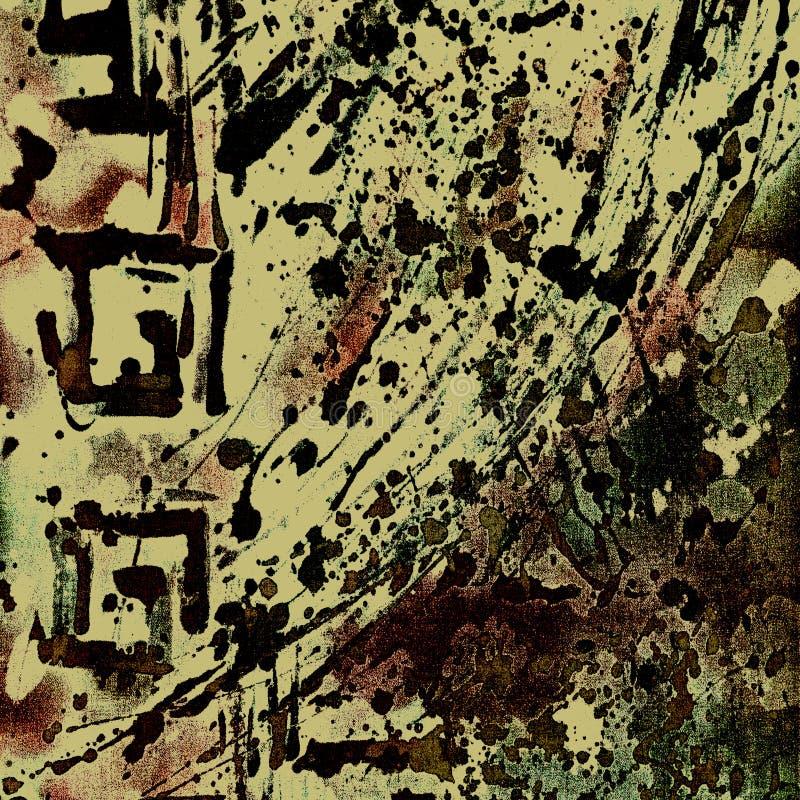 Kunst grunge Blumenhintergrund lizenzfreie abbildung