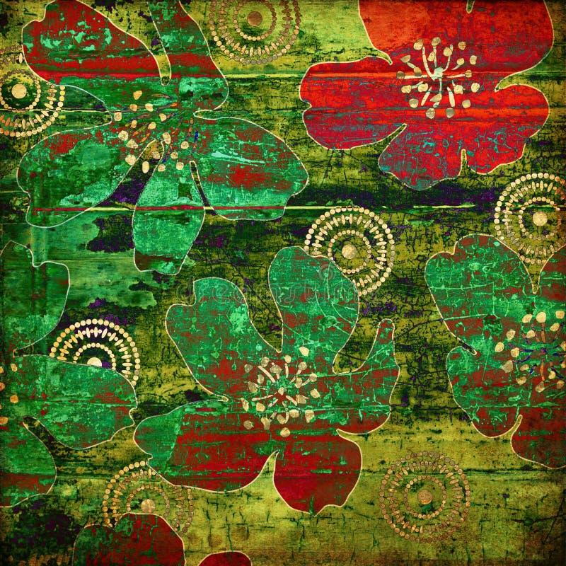 Kunst grunge Weinlese-Auszugshintergrund lizenzfreie abbildung