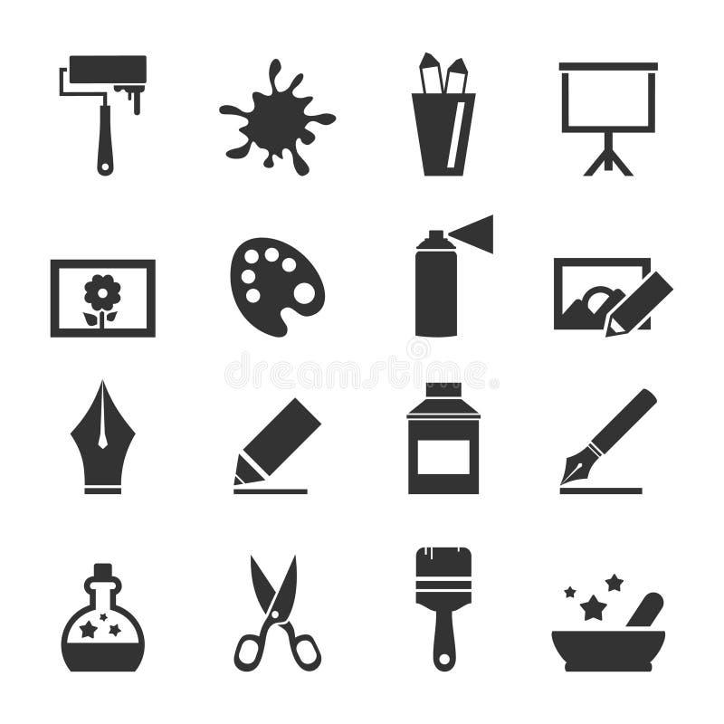 Kunst icon4 lizenzfreie abbildung