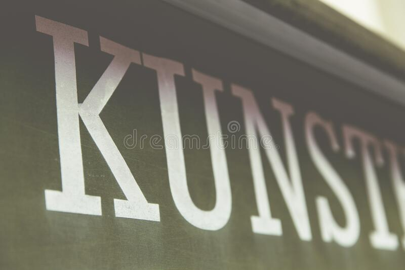 Kunst In Letters On Banner Free Public Domain Cc0 Image