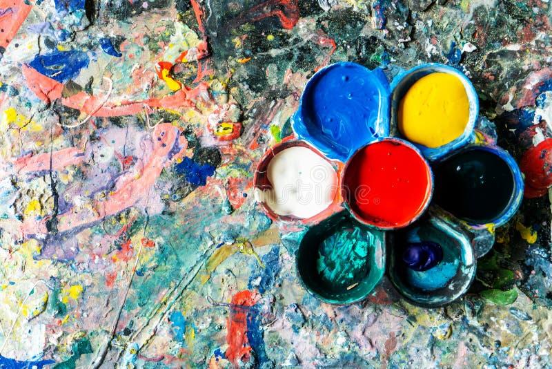 Kunst liefert Farben für Malerei und Zeichnung lizenzfreies stockbild