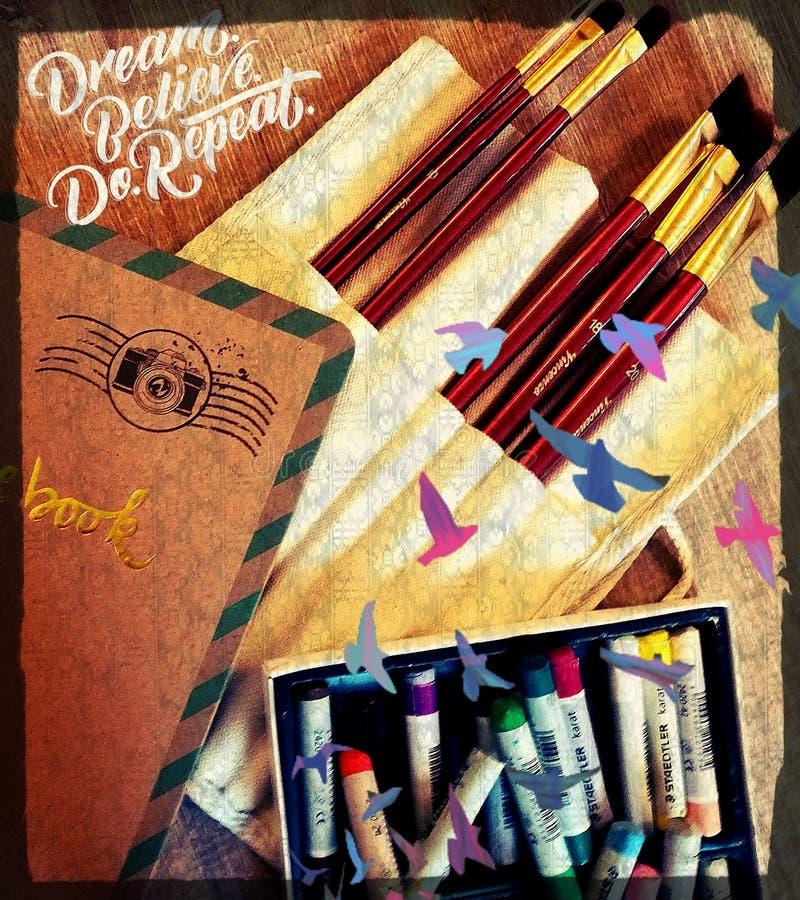Kunst-Material lizenzfreies stockbild