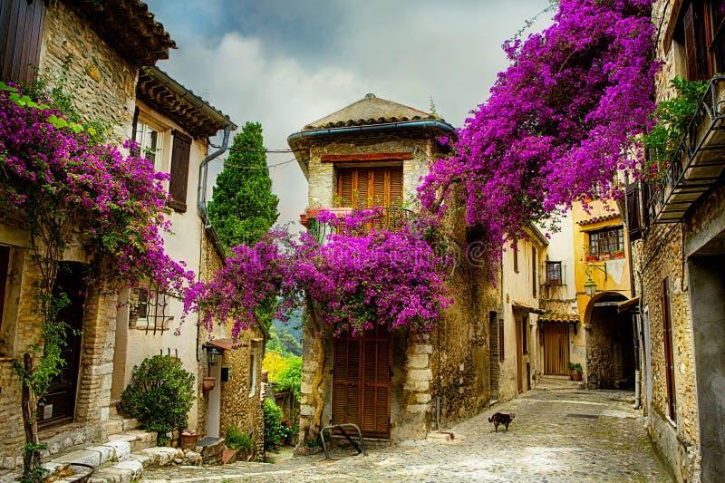 Kunst mooie oude stad van de Provence royalty-vrije stock fotografie
