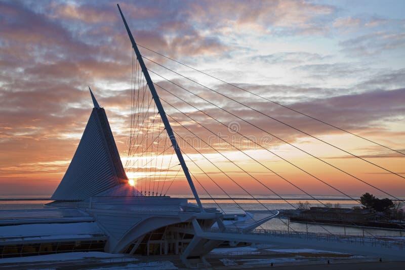 Kunst-Museum in Milwaukee stockfoto