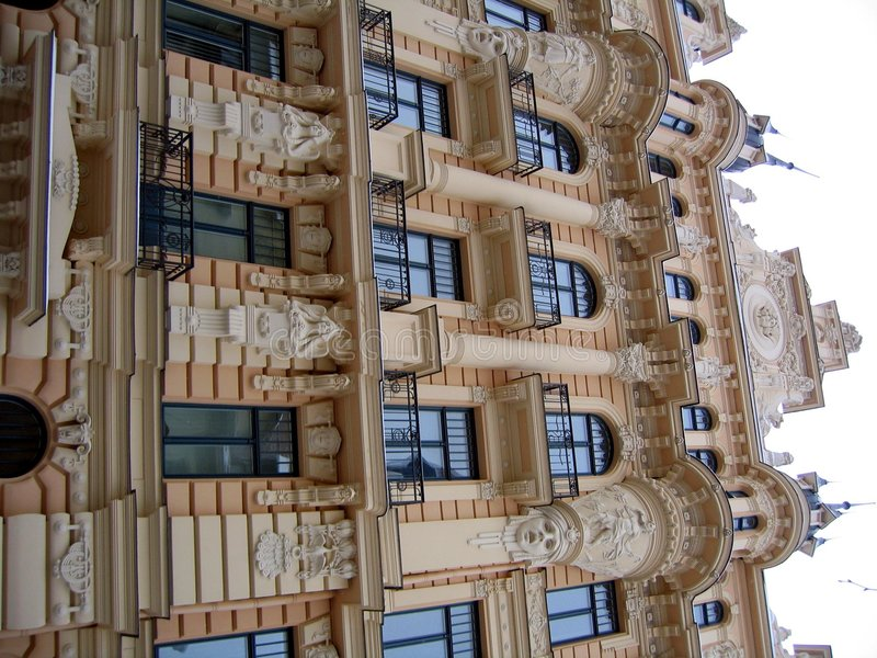 Kunst Nouveau Gebäude stockfotografie