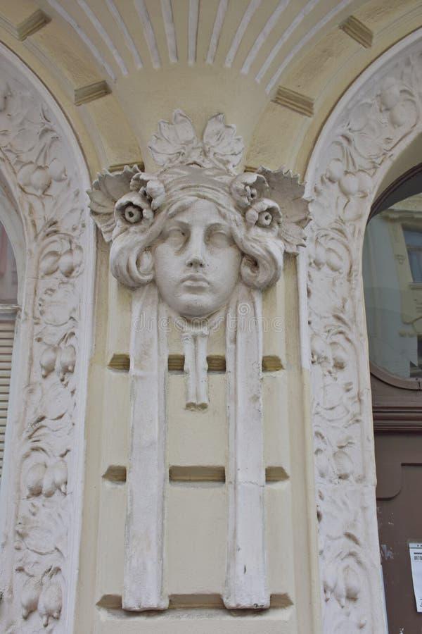 Kunst Nouveau in Prag stockfotos