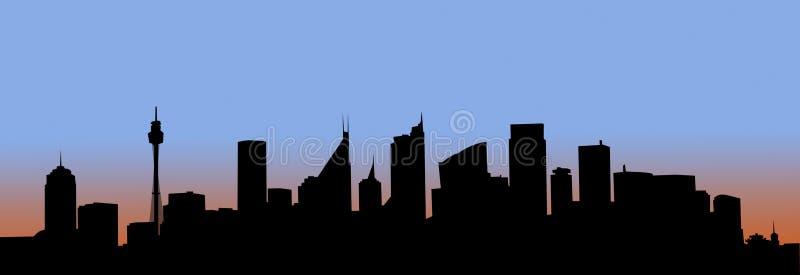 Kunst - Sydney bij dageraad stock illustratie