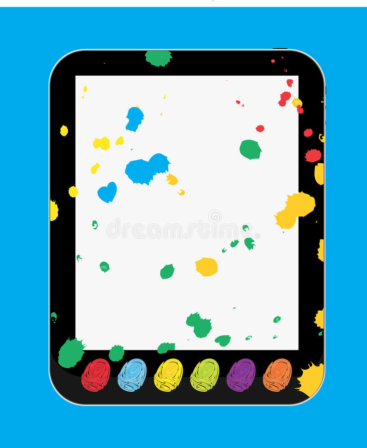 Kunst-und Fertigkeit-Tablette PC für Kinder und Kinder vektor abbildung