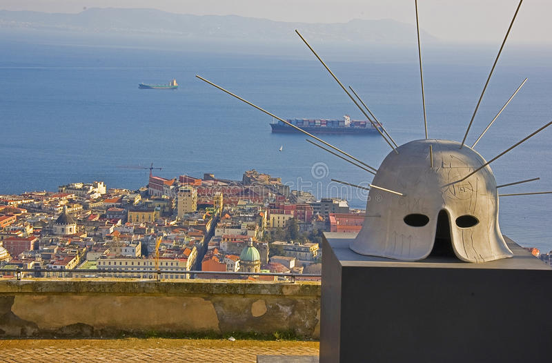 Kunst und Panorama, Neapel, Italien lizenzfreie stockfotos