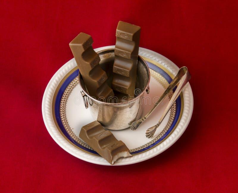 Kunst und Schokolade stockfoto