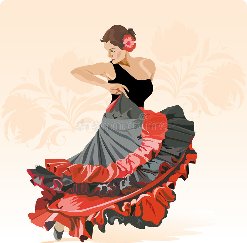 Kunst van Flamenko royalty-vrije illustratie