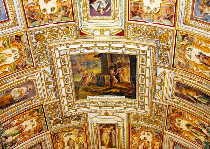 Kunst van Italië in Vatikaan stock fotografie