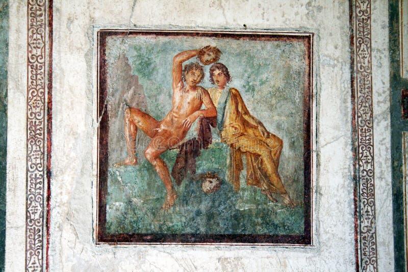 Kunst van Pompei royalty-vrije stock afbeelding