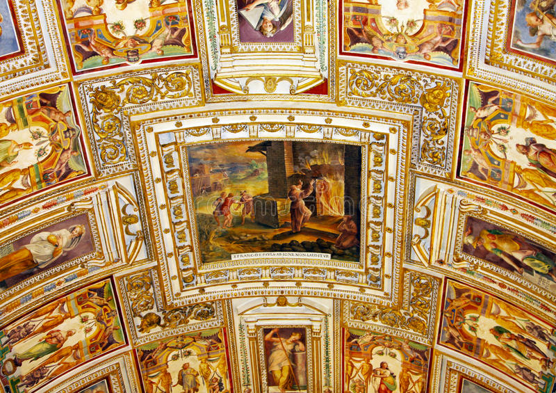 Kunst von Italien in Vatikan stockfotografie
