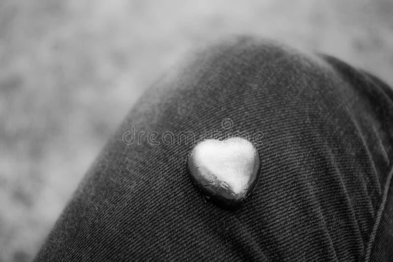 Kunst, Zachte Nadruk, de zwart-witte Dag van Valentine ` s stock foto