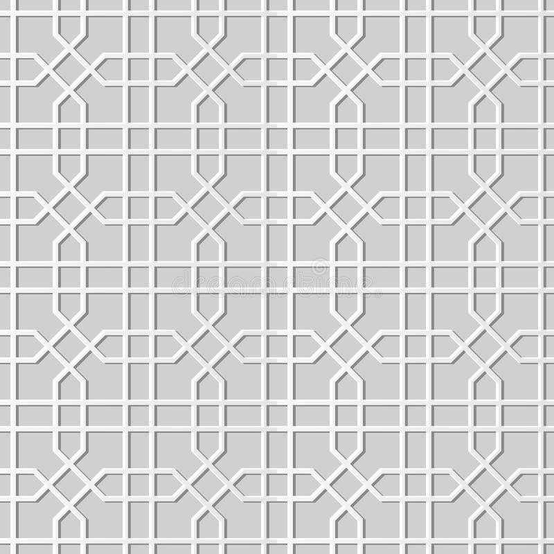 Kunstachteckkreuz-Geometrielinie des Papiers 3D lizenzfreie abbildung