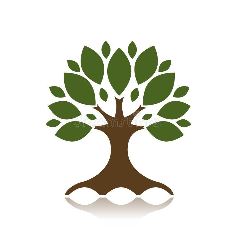 Kunstbaum für Ihre Auslegung stock abbildung