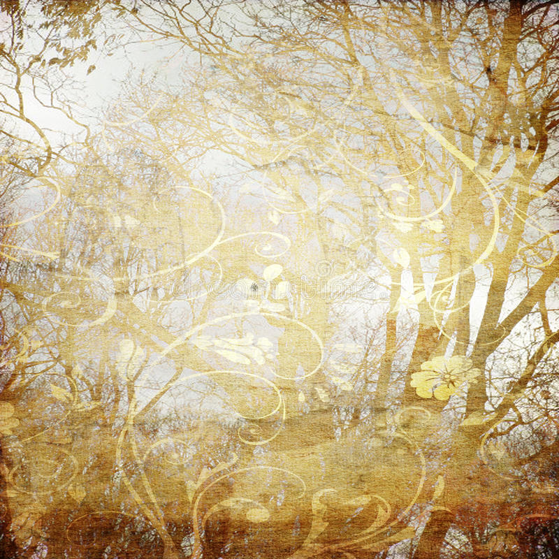 Kunstbaum grunge Hintergrund lizenzfreie abbildung