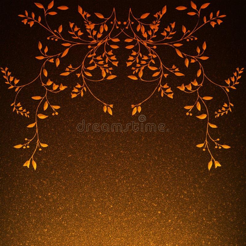 Kunstbloemen met bladeren royalty-vrije stock afbeeldingen