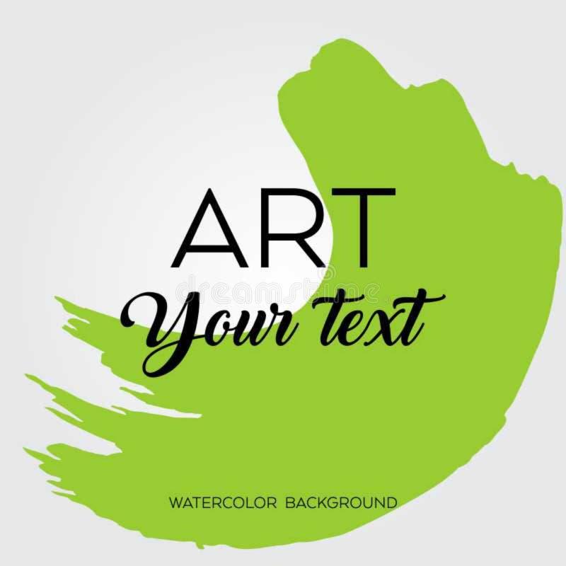 Kunstborstel geschilderde abstracte achtergrond stock illustratie