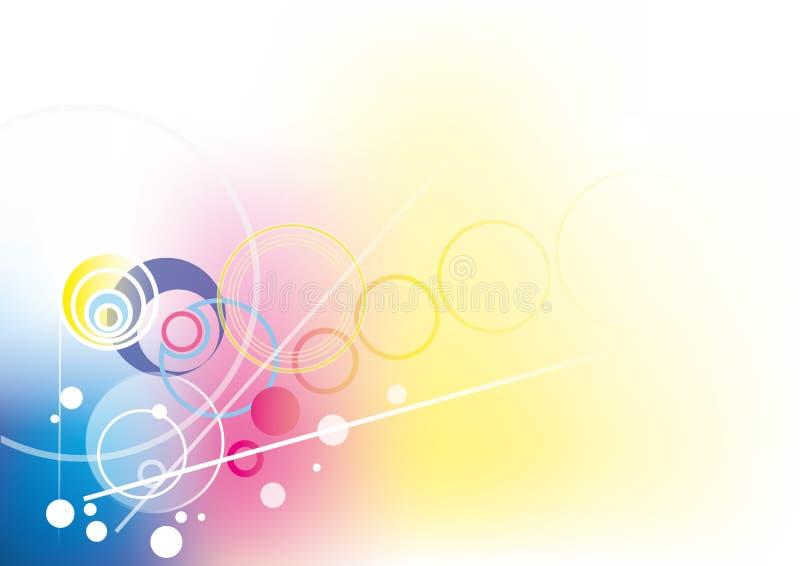 Kunstcirkel royalty-vrije illustratie