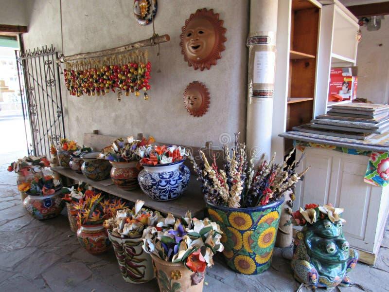 kunsten en ambachten in Santa Fe, New Mexico stock afbeeldingen