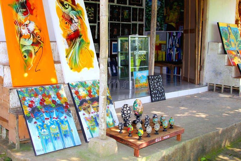 Kunsten en ambachtenwinkel in Ubud, Bali stock foto
