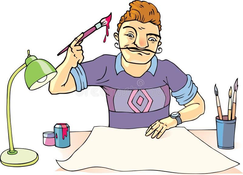 Kunstenaar vector illustratie