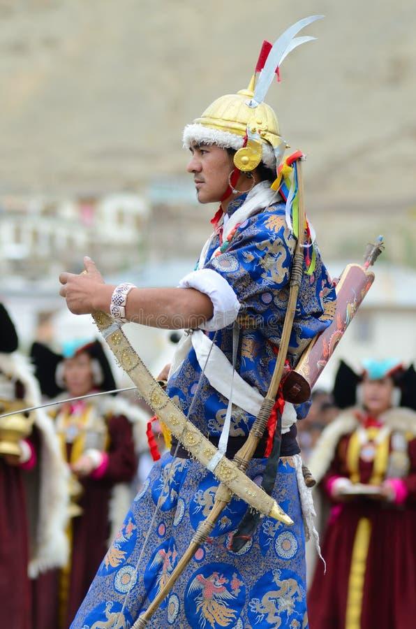Kunstenaar op Festival van Erfenis Ladakh royalty-vrije stock foto's