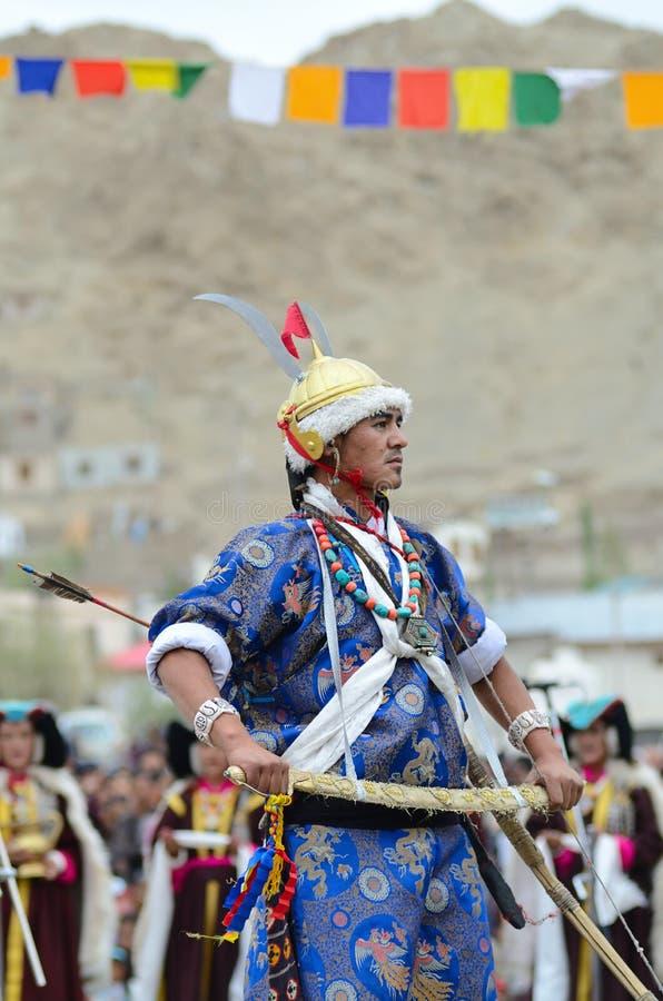Kunstenaar op Festival van Erfenis Ladakh royalty-vrije stock fotografie