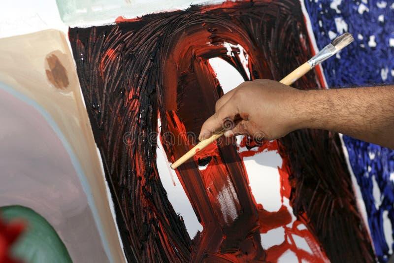 Kunstenaar Painting royalty-vrije stock foto's